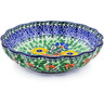 7-inch Stoneware Scalloped Bowl - Polmedia Polish Pottery H2384B