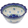 7-inch Stoneware Scalloped Bowl - Polmedia Polish Pottery H2407J