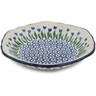 7-inch Stoneware Scalloped Bowl - Polmedia Polish Pottery H2833J