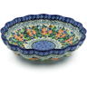 7-inch Stoneware Scalloped Bowl - Polmedia Polish Pottery H2855C