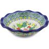 7-inch Stoneware Scalloped Bowl - Polmedia Polish Pottery H3284J