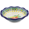 7-inch Stoneware Scalloped Bowl - Polmedia Polish Pottery H3296J