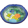 7-inch Stoneware Scalloped Bowl - Polmedia Polish Pottery H3649G