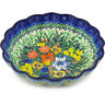 7-inch Stoneware Scalloped Bowl - Polmedia Polish Pottery H4010F