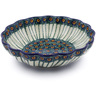 7-inch Stoneware Scalloped Bowl - Polmedia Polish Pottery H4453A
