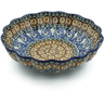 7-inch Stoneware Scalloped Bowl - Polmedia Polish Pottery H4455A