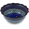 7-inch Stoneware Scalloped Bowl - Polmedia Polish Pottery H4740G