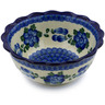 7-inch Stoneware Scalloped Bowl - Polmedia Polish Pottery H5014A