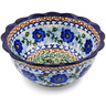 7-inch Stoneware Scalloped Bowl - Polmedia Polish Pottery H5021A