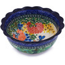 7-inch Stoneware Scalloped Bowl - Polmedia Polish Pottery H6491G