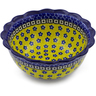 7-inch Stoneware Scalloped Bowl - Polmedia Polish Pottery H7560B