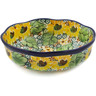 7-inch Stoneware Scalloped Bowl - Polmedia Polish Pottery H7803J