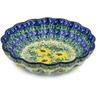 7-inch Stoneware Scalloped Bowl - Polmedia Polish Pottery H7804J