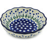 7-inch Stoneware Scalloped Fluted Bowl - Polmedia Polish Pottery H1646H