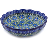 7-inch Stoneware Scalloped Fluted Bowl - Polmedia Polish Pottery H5499C