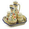 7-inch Stoneware Seasoning Set - Polmedia Polish Pottery H6959K