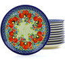 7-inch Stoneware Set of 12 Plates - Polmedia Polish Pottery H0675J