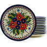 7-inch Stoneware Set of 12 Plates - Polmedia Polish Pottery H5320I