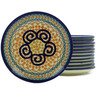 7-inch Stoneware Set of 12 Plates - Polmedia Polish Pottery H5383J