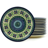 7-inch Stoneware Set of 12 Plates - Polmedia Polish Pottery H5982I