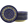 7-inch Stoneware Set of 12 Plates - Polmedia Polish Pottery H6624E
