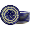 7-inch Stoneware Set of 12 Plates - Polmedia Polish Pottery H6631E