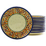 7-inch Stoneware Set of 12 Plates - Polmedia Polish Pottery H8922F