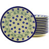 7-inch Stoneware Set of 12 Plates - Polmedia Polish Pottery H8925F