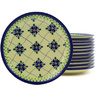 7-inch Stoneware Set of 12 Plates - Polmedia Polish Pottery H8931F