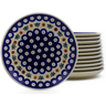 7-inch Stoneware Set of 12 Plates - Polmedia Polish Pottery H9990J