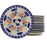 7-inch Stoneware Set of 12 Plates - Polmedia Polish Pottery H9992J