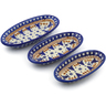 7-inch Stoneware Set of 3 Nesting Condiment Dishes - Polmedia Polish Pottery H3647J