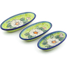 7-inch Stoneware Set of 3 Nesting Condiment Dishes - Polmedia Polish Pottery H3650J