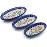 7-inch Stoneware Set of 3 Nesting Condiment Dishes - Polmedia Polish Pottery H3651J