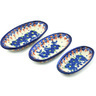 7-inch Stoneware Set of 3 Nesting Condiment Dishes - Polmedia Polish Pottery H7744H