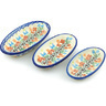 7-inch Stoneware Set of 3 Nesting Condiment Dishes - Polmedia Polish Pottery H7748H