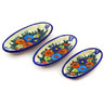 7-inch Stoneware Set of 3 Nesting Condiment Dishes - Polmedia Polish Pottery H9643F
