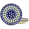 7-inch Stoneware Set of 4 Plates - Polmedia Polish Pottery H5554K