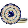 7-inch Stoneware Set of 4 Plates - Polmedia Polish Pottery H5556K