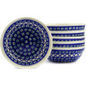 7-inch Stoneware Set of 6 Bowls - Polmedia Polish Pottery H3082E