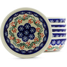 7-inch Stoneware Set of 6 Bowls - Polmedia Polish Pottery H4958J