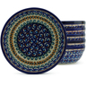 7-inch Stoneware Set of 6 Bowls - Polmedia Polish Pottery H5307J