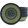 7-inch Stoneware Set of 6 Bowls - Polmedia Polish Pottery H5310J