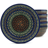 7-inch Stoneware Set of 6 Bowls - Polmedia Polish Pottery H5318J