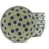 7-inch Stoneware Set of 6 Bowls - Polmedia Polish Pottery H5322J