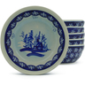 7-inch Stoneware Set of 6 Bowls - Polmedia Polish Pottery H5324J