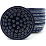 7-inch Stoneware Set of 6 Bowls - Polmedia Polish Pottery H5328I