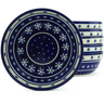 7-inch Stoneware Set of 6 Bowls - Polmedia Polish Pottery H5329J