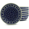 7-inch Stoneware Set of 6 Bowls - Polmedia Polish Pottery H5338J