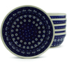7-inch Stoneware Set of 6 Bowls - Polmedia Polish Pottery H5340J